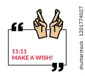 11 11 make a wish vector quote... | Shutterstock .eps vector #1201774027