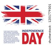 united kingdom independence day ... | Shutterstock .eps vector #1201779301