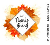 watercolor thanksgiving frame.... | Shutterstock . vector #1201782481