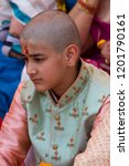 mathura  india   march 9  young ... | Shutterstock . vector #1201790161