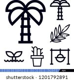 set of 6 nature outline icons...   Shutterstock .eps vector #1201792891