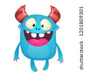 Funny Cartoon Monster Character....