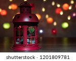 red lantern decorate by... | Shutterstock . vector #1201809781