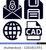 set of 4 interface filled icons ...   Shutterstock .eps vector #1201811551
