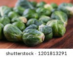 fresh brussel sprouts | Shutterstock . vector #1201813291