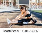 women's warm ups before morning ... | Shutterstock . vector #1201813747