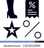 set of 4 shapes filled icons... | Shutterstock .eps vector #1201813984