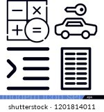 set of 4 signs outline icons...   Shutterstock .eps vector #1201814011