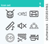 contains such icons as playoff  ... | Shutterstock .eps vector #1201814461
