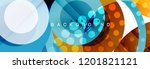 abstract colorful geometric... | Shutterstock .eps vector #1201821121
