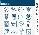 contains such icons as swing ... | Shutterstock .eps vector #1201827487
