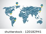 vector map with special sketch... | Shutterstock .eps vector #120182941