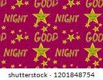 night stars pattern | Shutterstock . vector #1201848754
