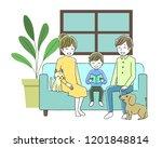 illustration of a family... | Shutterstock .eps vector #1201848814