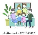 illustration of a family... | Shutterstock .eps vector #1201848817