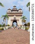 vientiane laos   february 14 ...   Shutterstock . vector #1201860721