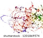 colorful drops on a white... | Shutterstock . vector #1201869574