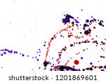 colorful drops on a white... | Shutterstock . vector #1201869601