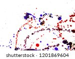 colorful drops on a white... | Shutterstock . vector #1201869604