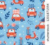 seamless pattern for christmas... | Shutterstock .eps vector #1201871554