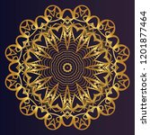 vector with mandala pattern.... | Shutterstock .eps vector #1201877464
