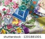 handkerchief vintage textiles | Shutterstock . vector #1201881001