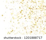 gold glitter confetti flying on ... | Shutterstock .eps vector #1201888717