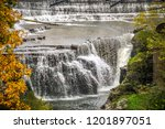 with over 150 waterfalls that... | Shutterstock . vector #1201897051