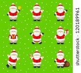 set of santa claus | Shutterstock .eps vector #120189961