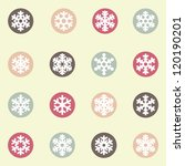 snowflakes icon collection | Shutterstock .eps vector #120190201