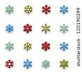 snowflakes icon collection | Shutterstock .eps vector #120190399