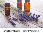 branch of a lavender and... | Shutterstock . vector #1201907011