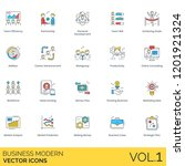 business icons including team... | Shutterstock .eps vector #1201921324
