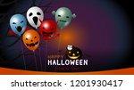 happy halloween banner design... | Shutterstock .eps vector #1201930417