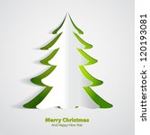 christmas greeting card   paper ... | Shutterstock .eps vector #120193081