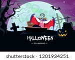 halloween weekend info banner... | Shutterstock .eps vector #1201934251