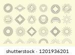sunburst set. vintage burst... | Shutterstock .eps vector #1201936201