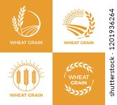 baked wheat logo. field wheats... | Shutterstock .eps vector #1201936264