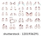 cartoon eyes. comic eye staring ... | Shutterstock .eps vector #1201936291