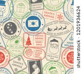 Christmas Postal Pattern. Sant...