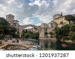 mostar  bosnia  july 28  2018 ... | Shutterstock . vector #1201937287