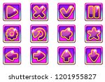vector purple square collection ... | Shutterstock .eps vector #1201955827