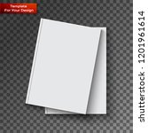 blank book cover on transparent ... | Shutterstock .eps vector #1201961614