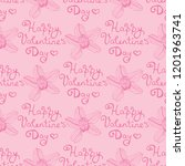 valentine's day seamless... | Shutterstock .eps vector #1201963741