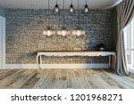 stone wall lamp modern interior ... | Shutterstock . vector #1201968271