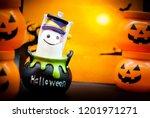 halloween characters and...   Shutterstock . vector #1201971271