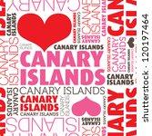 i love canary islands seamless... | Shutterstock .eps vector #120197464