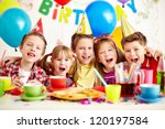 group of adorable kids having... | Shutterstock . vector #120197584