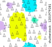 triangles and abstract color... | Shutterstock .eps vector #1201979281