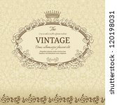 vintage background with crown... | Shutterstock .eps vector #120198031